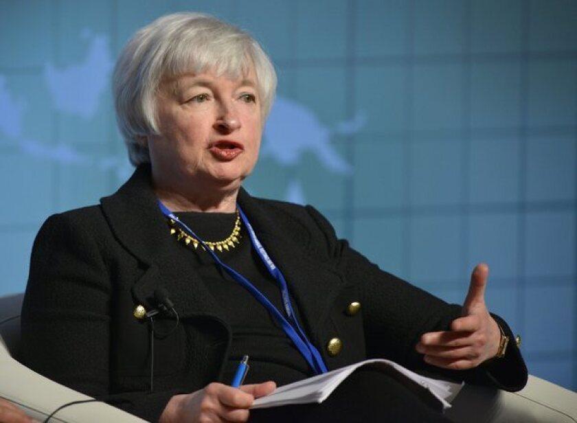 Janet Yellen speaks during an International Monetary Fund meeting in Tokyo.