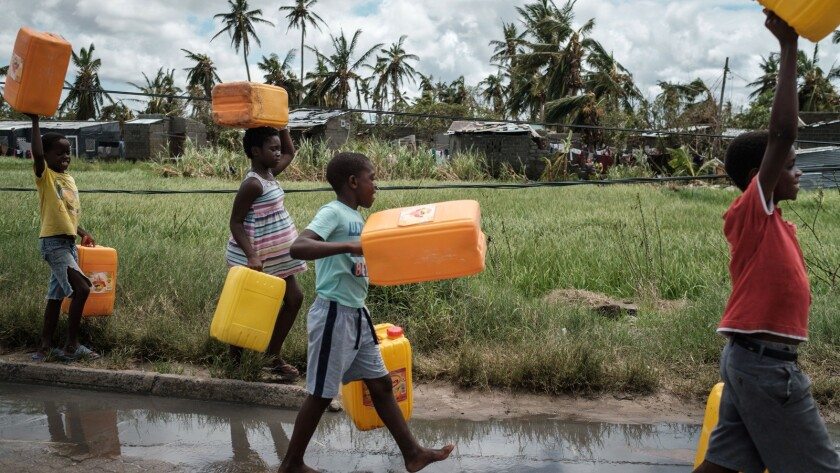 TOPSHOT-MOZAMBIQUE-WORLD WATER DAY