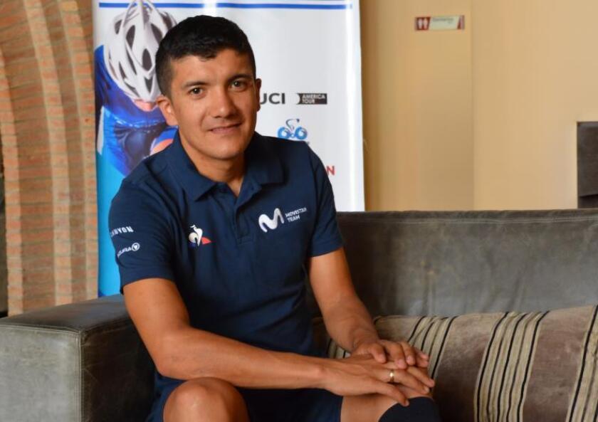 El ciclista ecuatoriano de Movistar, Richard Carapaz.