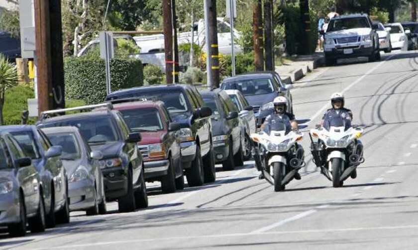 Glendale Police Department traffic enforcement