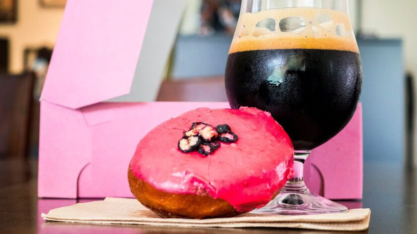 Doughnuts and beer make for the perfect pairing.