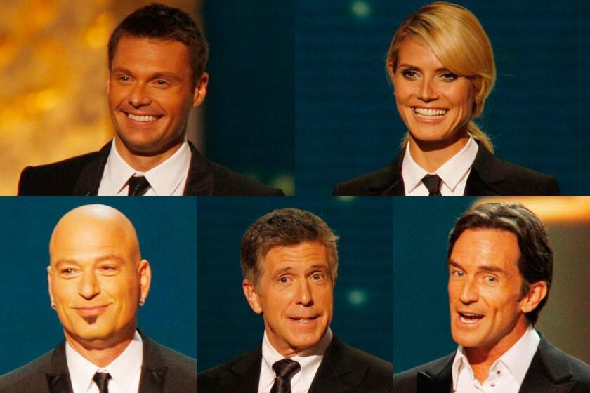 Ryan Seacrest, Heidi Klum, Tom Bergeron, Howie Mandel, Jeff Probst | 2008