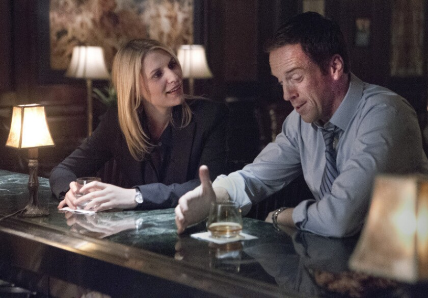 """Claire Danes as Carrie Mathison and Damian Lewis as Nicholas Brody in """"Homeland"""""""