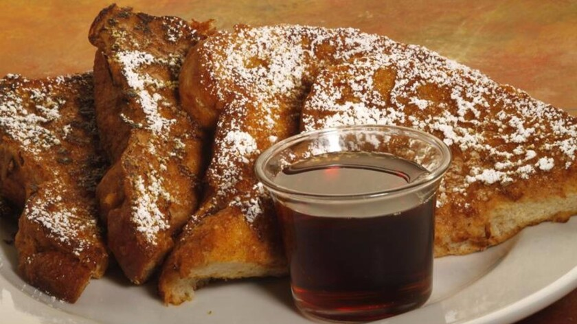 Pumpkin-spiced French toast.