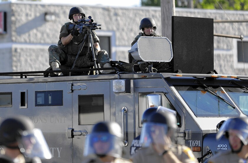 The use of miltary equipment by police during the unrest in Ferguson, Mo., has drawn attention to the federal government's practice of distributing such equipment to state and local police agencies.