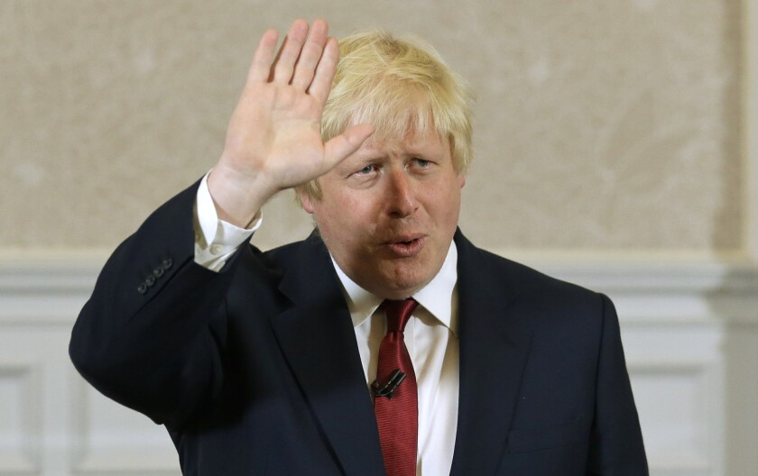 British Prime Minister Boris Johnson.