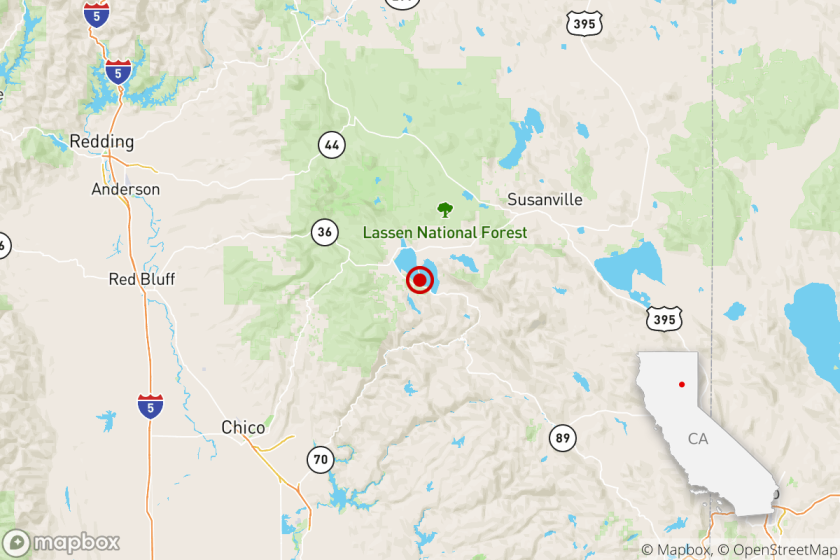 A magnitude 3.3 earthquake was reported in Susanville, Calif.