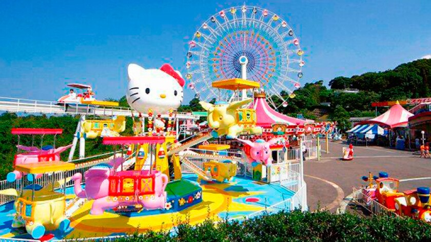 The Hello Kitty theme park in Japan.