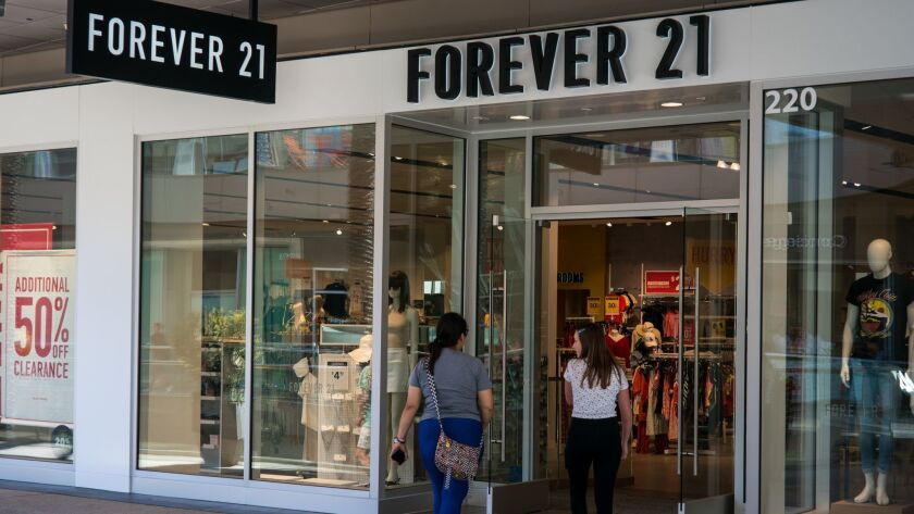 SANTA MONICA, CALIF. - JULY 11: The Forever 21 store at Santa Monica Place on Thursday, July 11, 201