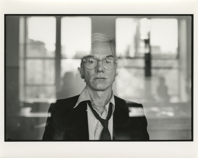 """A photo of Andy Warhol as featured in """"Warhol,"""" the new bio by Blake Gopnik"""
