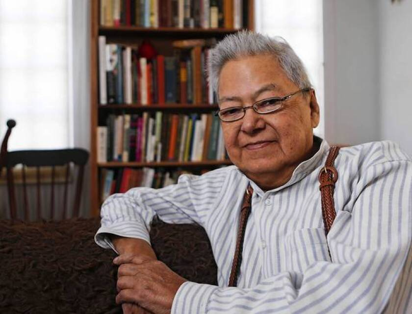 George P. Horse Capture in his Great Falls, Mont., home. The nationally recognized Native American acivist, curator and scholar has died at 75.