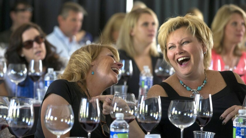 "Women enjoy the traveling ""Martha Stewart Wine & Food Experience"" during a stop in Scottsdale, Ariz. Stewart will be in Las Vegas on Saturday."