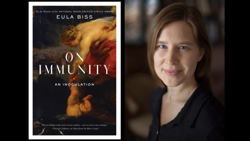 "The cover of ""On Immunity"" and author Eula Biss."