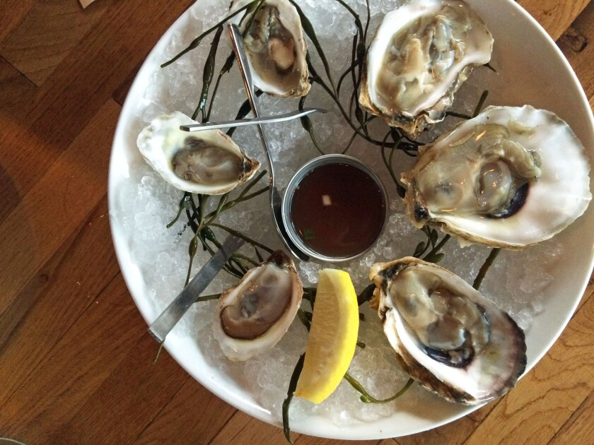 Oysters at Catch and Release in Marina del Rey.