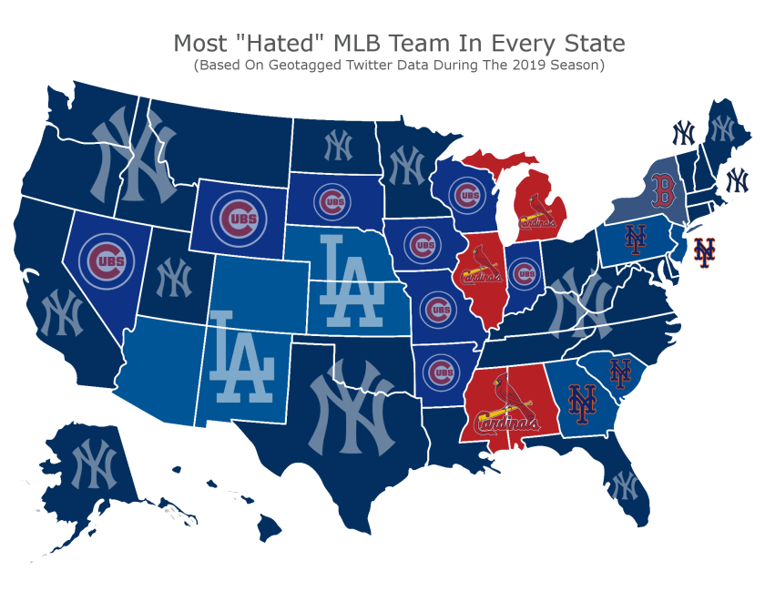 Most hated baseball team on Twitter? The Dodgers are in the ...