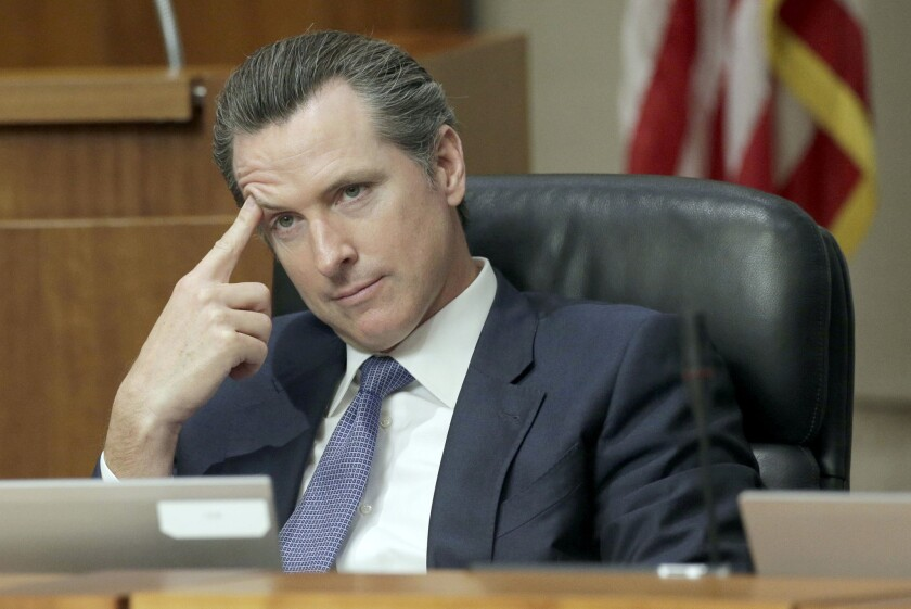 Lt. Gov. Gavin Newsom calls for new admissions requirements