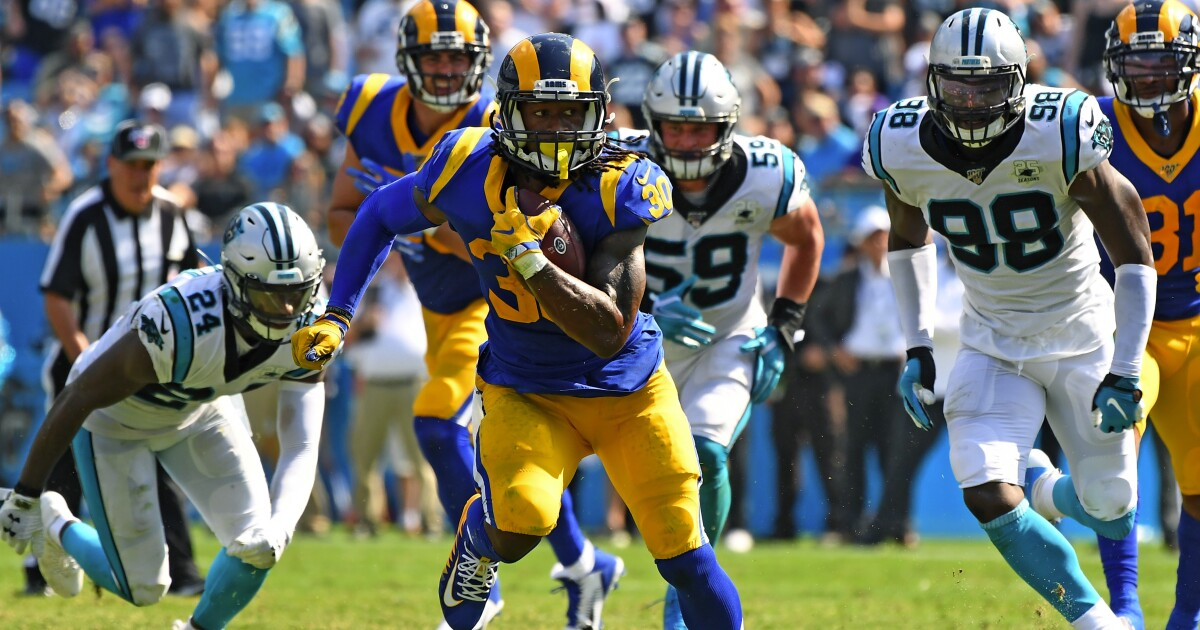 Rams' Todd Gurley looks set to play against the Falcons