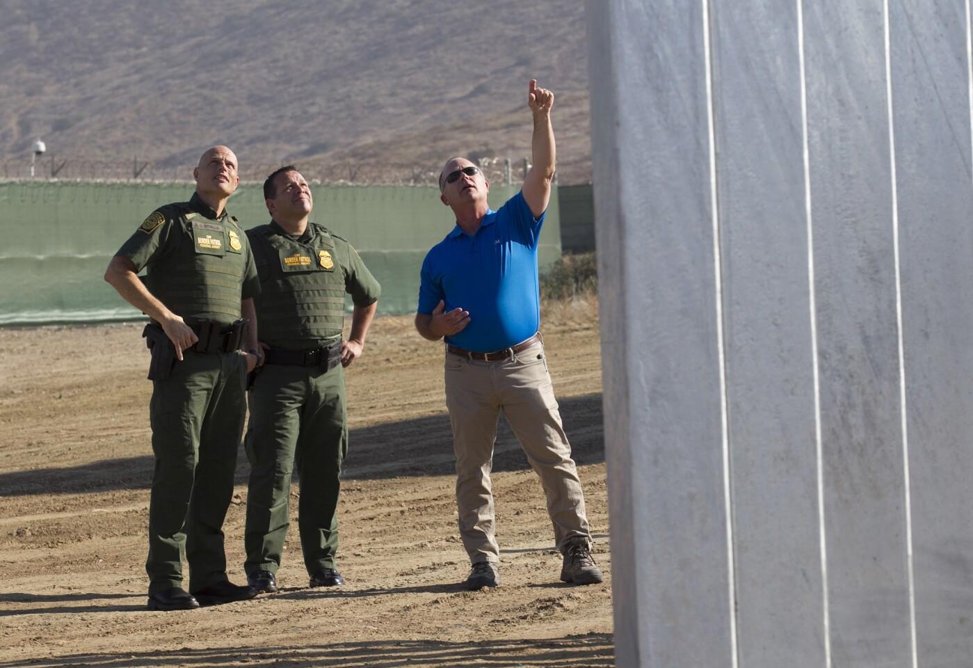CBP boss checks in on walls