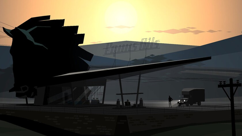 A screenshot from the experimental and eerie game Kentucky Route Zero.
