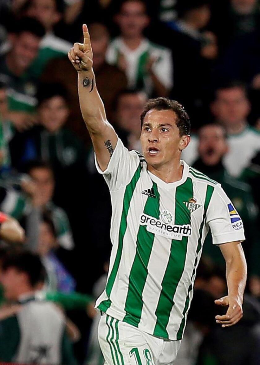 El centrocampista mexicano del Betis, José Andrés Guardado. EFE/Archivo