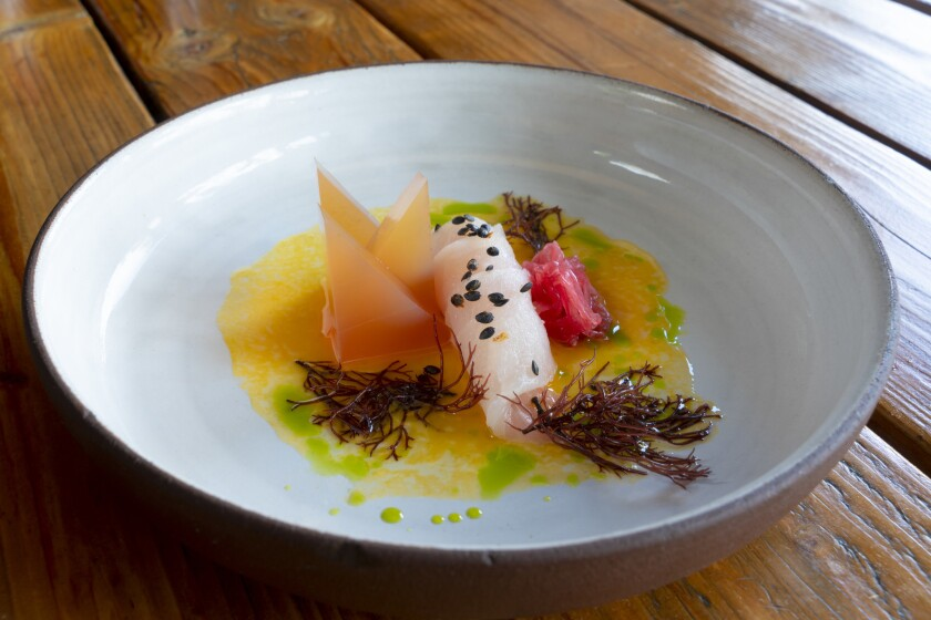 Yellowtail sashimi from chef-owner, Davin Waite of Wrench & Rodent Seabasstropub.