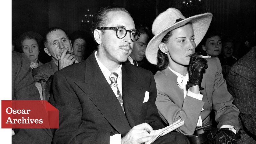 Dalton Trumbo and his wife, Cleo, attend a House Un-American Activities Committee hearing in 1947.