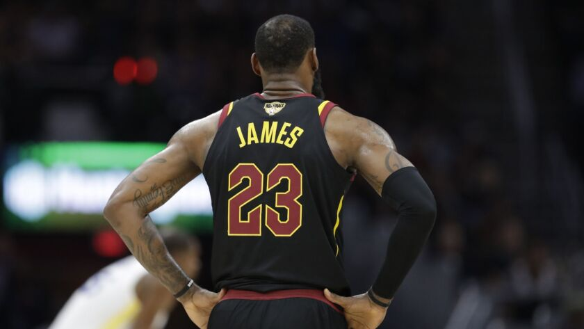 """Has LeBron James, seen in Game 4 of this year's NBA Finals, """"gone Hollywood"""" with his jump to the Lakers? Nope, he already had years ago."""