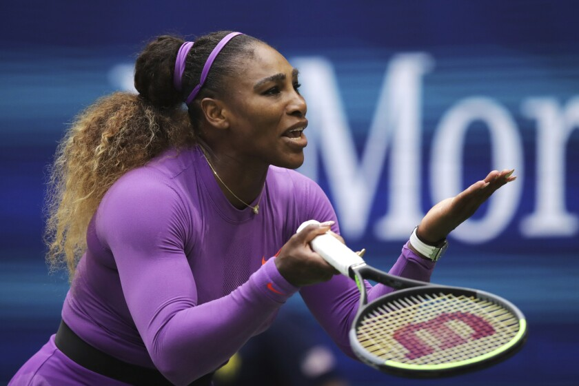 Serena Williams failed for the fourth time to try to tie Margaret Court's record of 24 Grand Slam tournament titles.