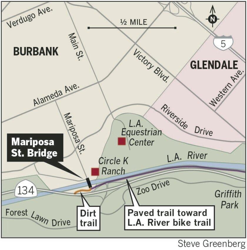Mariposa Street bridge map
