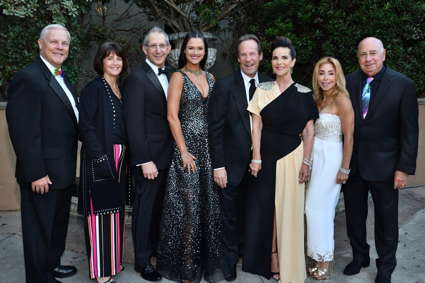 Timothy J. Shields (Globe managing director), Kim Klett, Barry and Hilit Edelstein (he's Globe artistic director), Stuart and Karen Tanz (she's gala co-chair), Ellise and Michael Coit (she's gala co-chair)