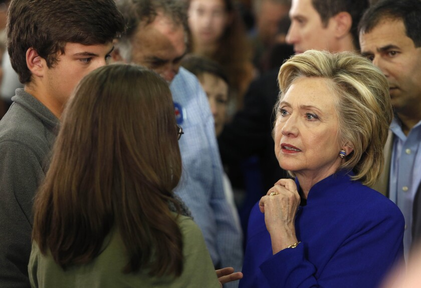 Democratic presidential front-runner Hillary Rodham Clinton visited New Hampshire on Tuesday, in part to talk about the heroin abuse crisis that voters have repeatedly told her about on campaign stops throughout the state.