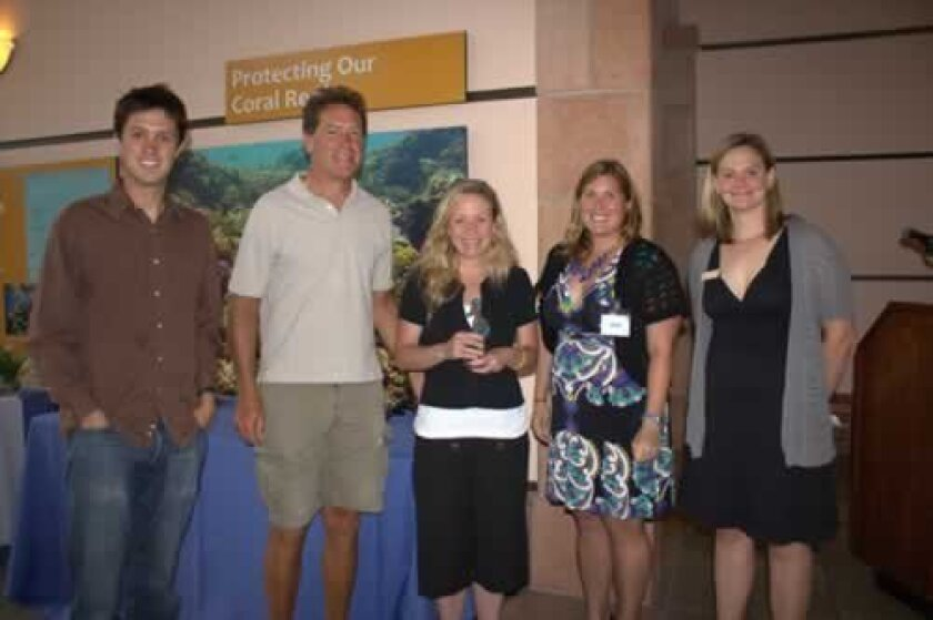 hike, Bike, kayak owners with their coastal champions award from the 2012 ceremony. Courtesy