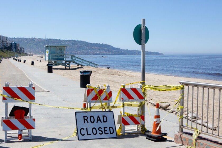 Over the weekend, the beach near Veterans Park was closed in Redondo Beach.
