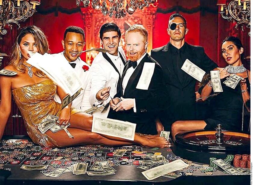 Tremenda fiesta para John Legend.