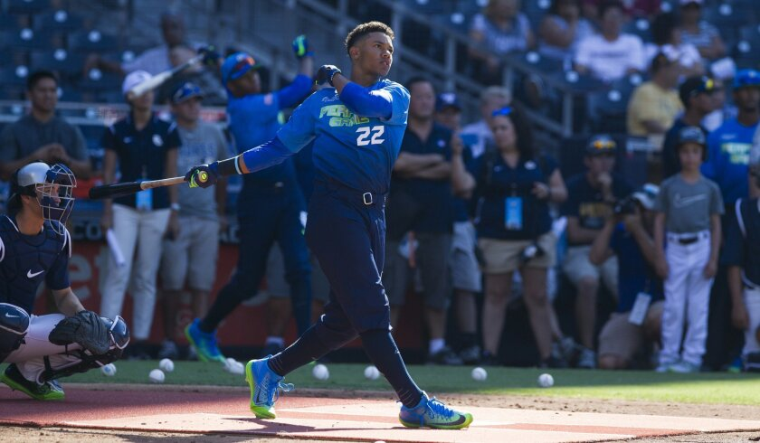 Calvin Mitchell finished second in the Home Run Derby at the Perfect Game All-American Classic.