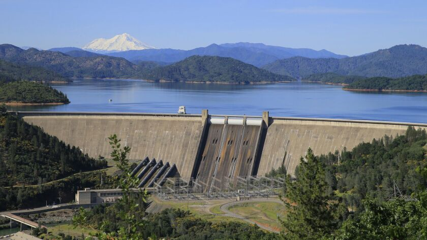 LAKE SHASTA, CALIF. -- WEDNESDAY, MAY 11, 2016: A view of snow-capped Mount Shasta sets the scene