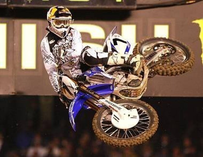 Floridian James Stewart takes first place in the Monster Energy AMA Supercross at Qualcomm Stadium Saturday night.