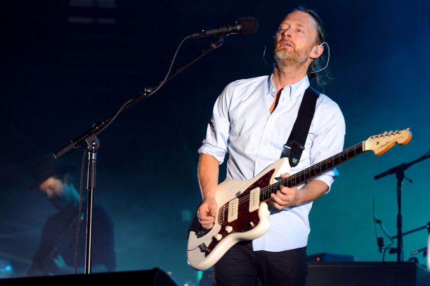 Radiohead, fronted by Thom Yorke, pictured, is among more than 70 acts on the lineup for the 2016 Outside Lands festival in San Francisco in August.