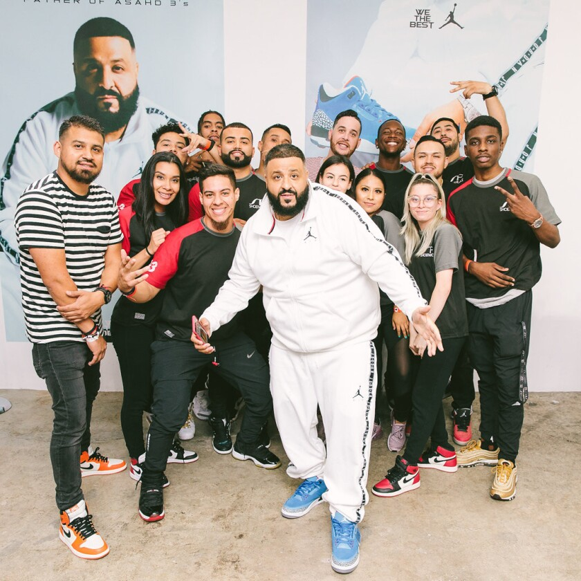 Grammy Nominated, mega-producer DJ Khaled hosted an exclusive pop up event at Shoe Palace in Los Ang