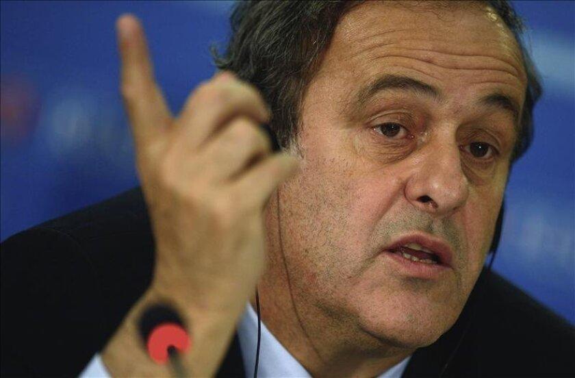 El presidente de la UEFA, Michel Platini. EFE/Archivo