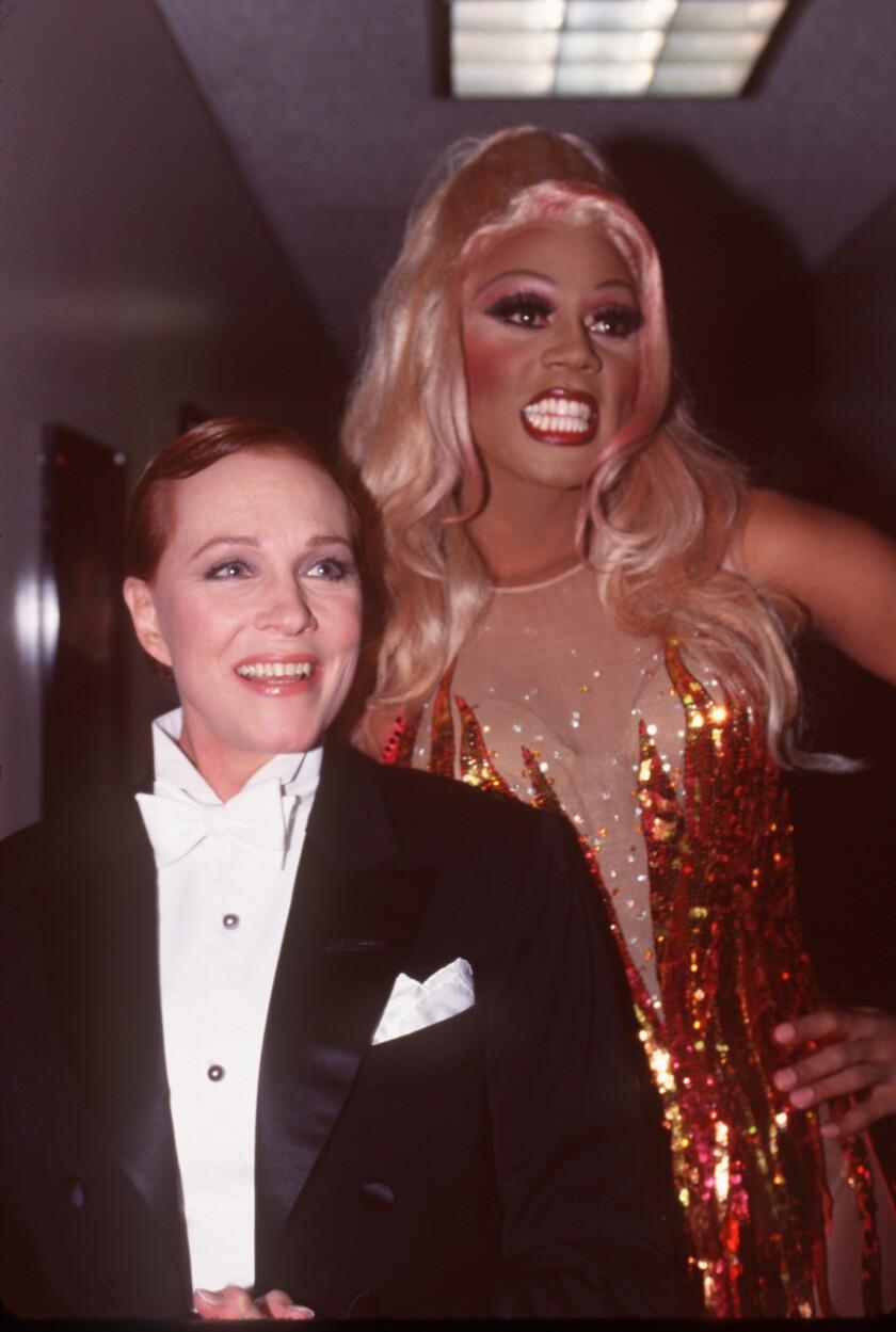 RuPaul and Julie Andrews in 1995