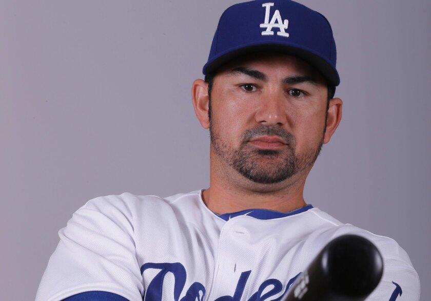 Adrián González, jugador mexicano de los Dodgers.