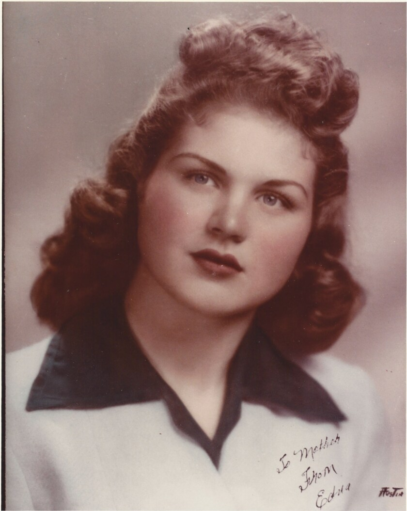 Edna Mae Logsdon  in 1947, at age 17.