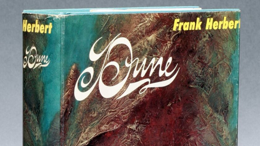 Dune by Frank Herbert. First Edition Hard book cover. Credit: courtesy of The Manhattan Rare Book Co