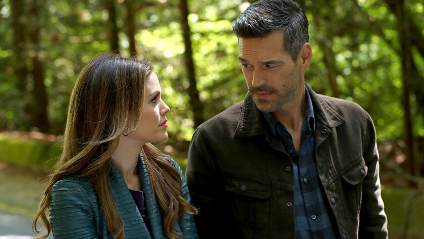 """Rachel Bilson and Eddie Cibrian in a new episode of the mystery """"Take Two"""" on ABC."""