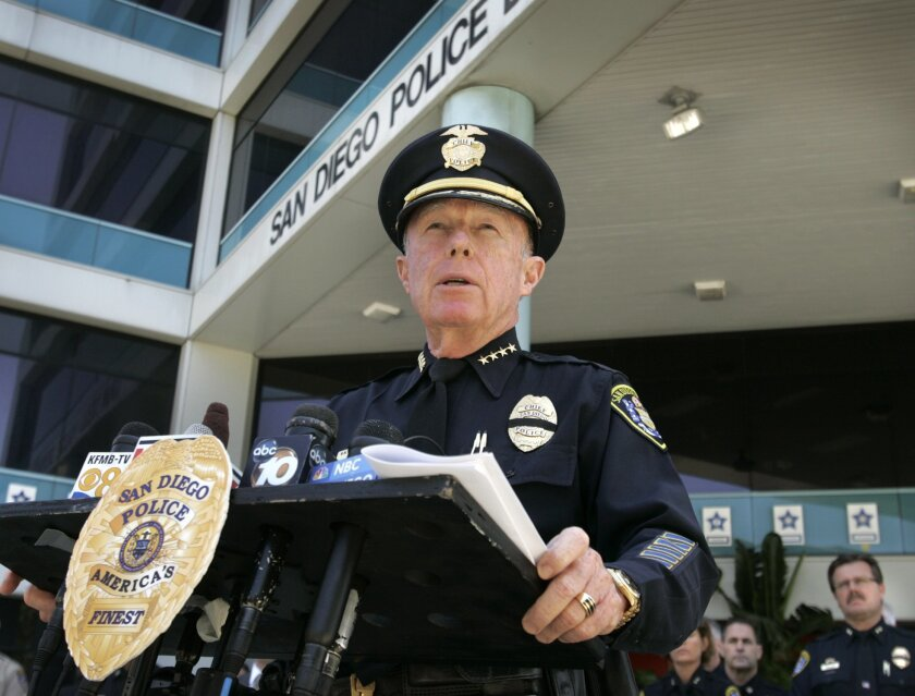 San Diego Police Chief William Lansdowne announced at a Sunday news conference that Jeremy Henwood, 36, was the officer killed Saturday when he was shot in the head while on patrol in City Heights at the intersection of University Avenue and 45th Street. Police later shot and killed the alleged ass