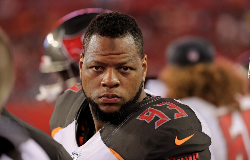 Tampa Bay Buccaneers defensive tackle Ndamukong Suh