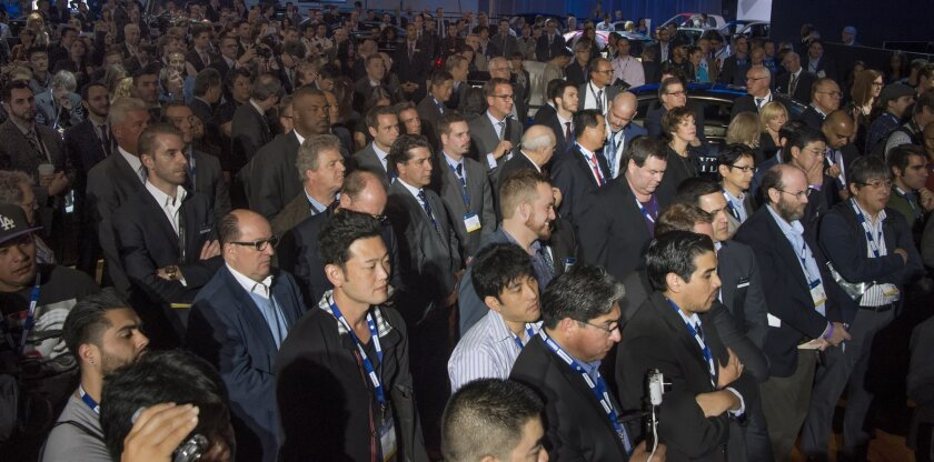 Crowd at a press conference