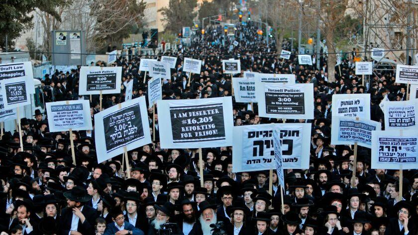 ISRAEL-JUDAISM-ARMY-DEMONSTRATION