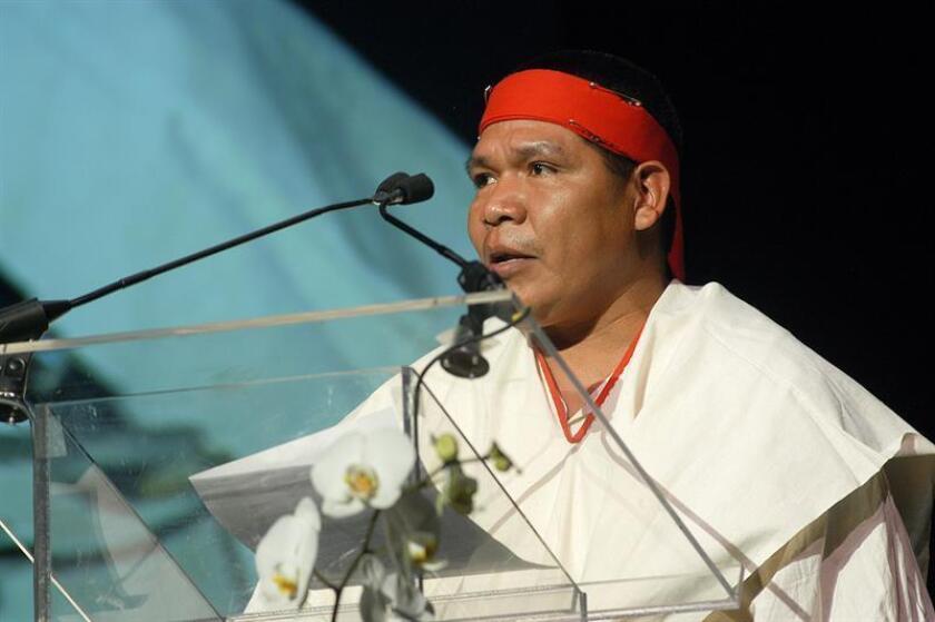 Doce defensores del territorio ancestral tarahumara, en el norte de México, han sido asesinados en los últimos 30 años con la muerte el domingo pasado de Isidro Baldenegro, un reconocido activista indígena, dijo hoy la Alianza Sierra Madre. EFE/Organización Ambiental Goldman/SOLO USO EDITORIAL